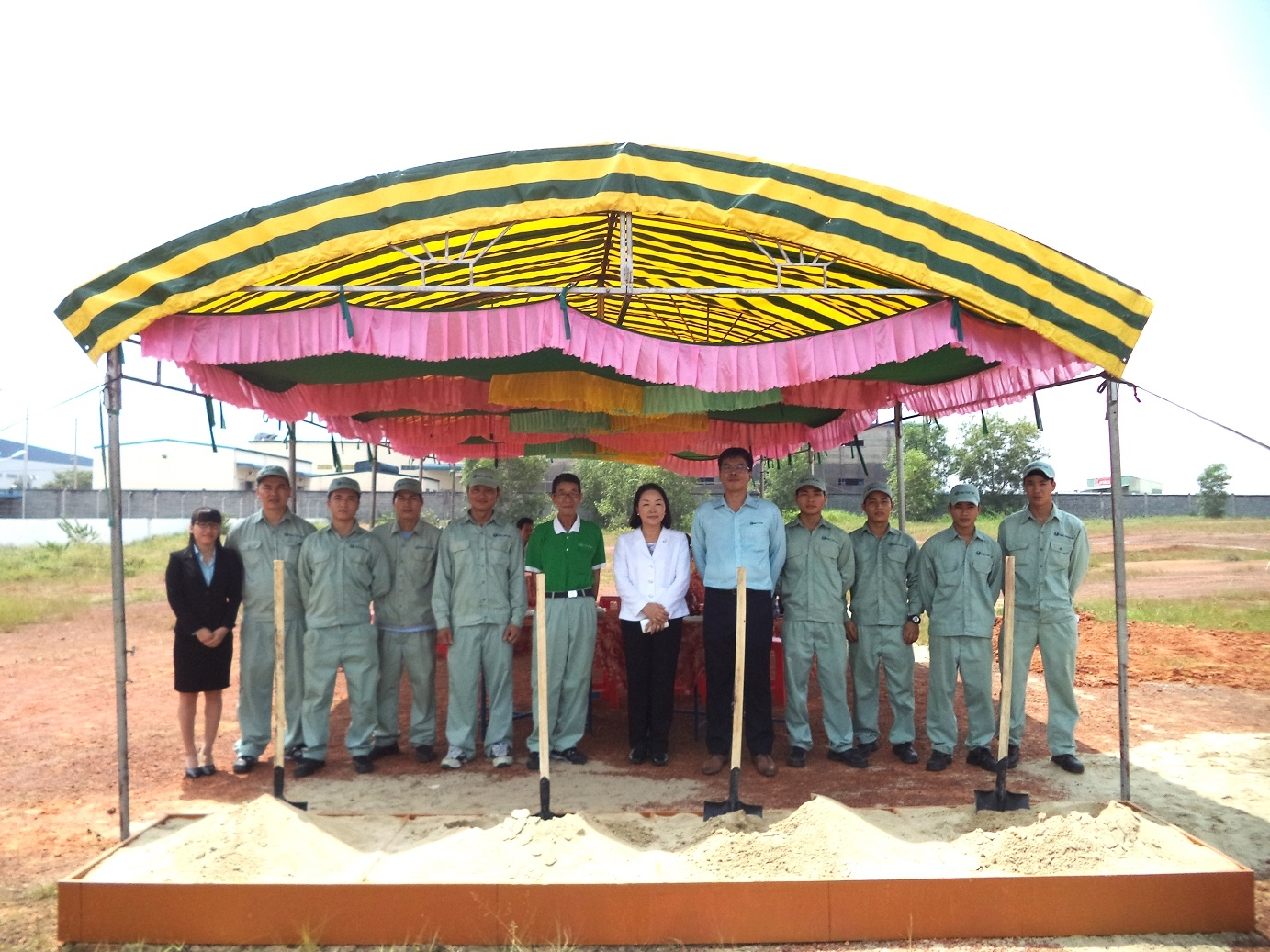 Ground Breaking Ceremony of Isho Vietnam Factory 2